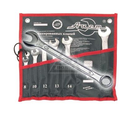 Набор комбинированных гаечных ключей в чехле, 6 шт. AIST 0011406ВX-M (8 - 17 мм)