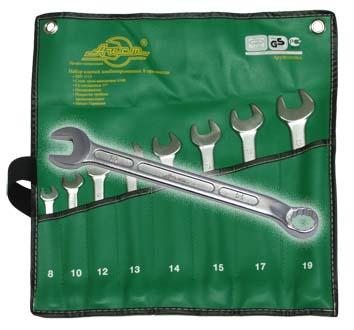 Набор комбинированных гаечных ключей, 8 шт. Aist 0010808ax (8 - 19 мм)