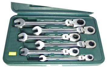 Набор комбинированных гаечных ключей с храповиком, 6 шт. Aist 0010406b органайзер blocker hobby box цвет салатовый черный 29 5 х 18 х 9 см