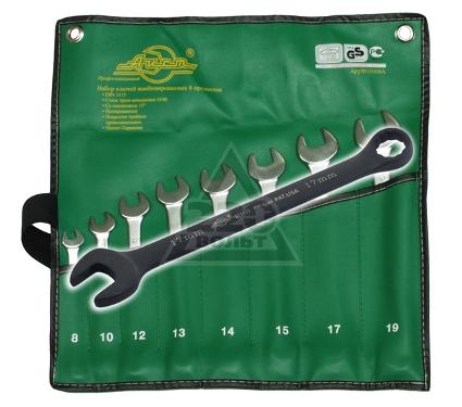 Набор комбинированных удлиненных гаечных ключей, 8 предметов AIST 11108 (8 - 19 мм)