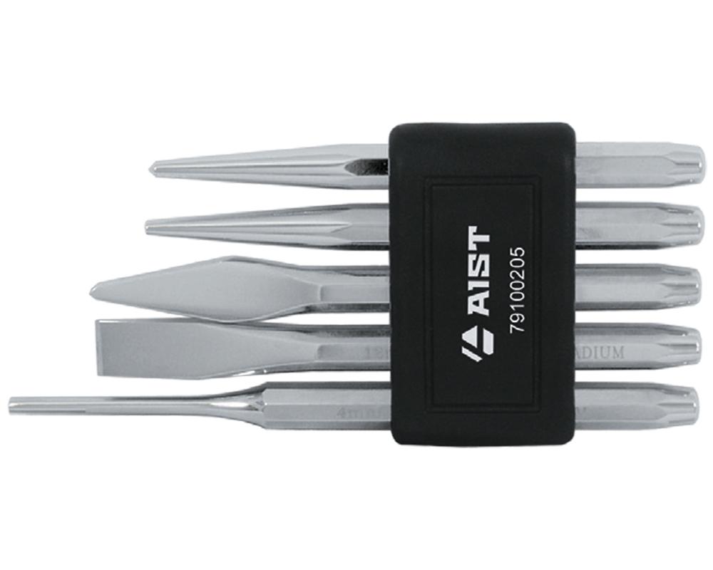 Набор ударно-режущих инструментов, 5 предметов Aist 79100205 набор инструментов hans 56110 5 набор слесарный 5 предметов