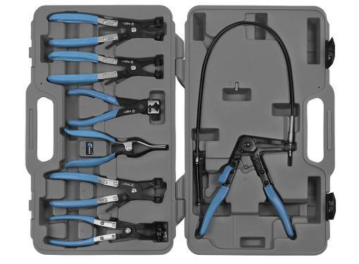 Набор щипцов для хомутов в пластиковом кейсе, 7 предметов AIST 67928007