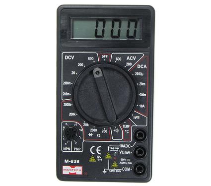 220 Вольт - Мультиметр MASTECH M838 цифровой в Нижнем Новгороде.