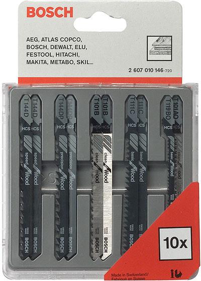 Набор пилок Bosch 2 607 010 146 дерево\пластик, 10шт. replacement for bosch gsb 12 vsp 3 gsb 12vsp 2 gsr 12v bat011 2 607 335 250 2 607 335 376 2 607 335 378 power tools battery