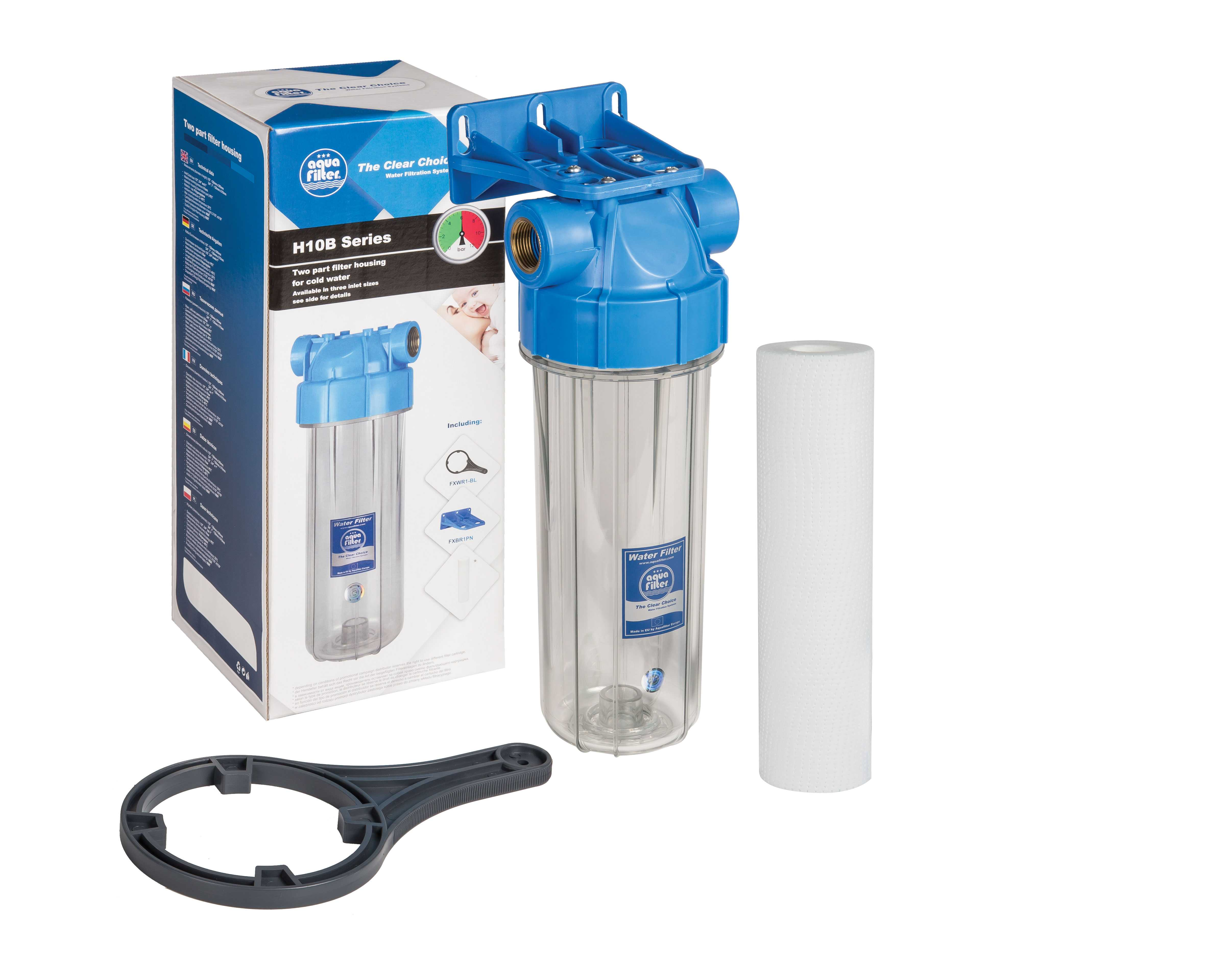 Фильтр магистральный для воды Aquafilter Fhpr1-b1-aq фильтр для воды honeywell ff06 1 2 aa