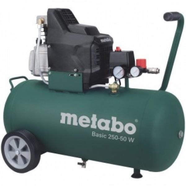Компрессор поршневой Metabo Basic250-50w (601534000) масляный компрессор metabo basic250 24w 601533000