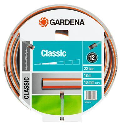 Шланг Gardena Classic 18001 длина 18м диаметр 13мм (1/2'') 22бар (18001-20.000.00) цена и фото
