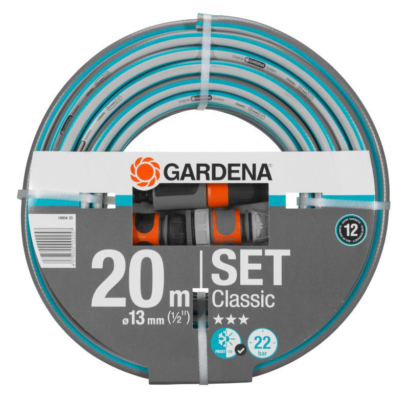 Шланг Gardena 18004 classic длина бухты 20м 13мм (1/2'') не перегибается с фиттингами (18004-20.000.00) ранец step by step light2 top soccer с наполнением синий 18 л 138508