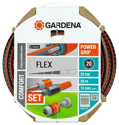 Шланг Gardena 18034 длина 20м диаметр 13мм (1/2'') 22бар (18034-20.000.00) шланг магистральный gardena 13мм 1 2 х 15м 01346 20 000 00