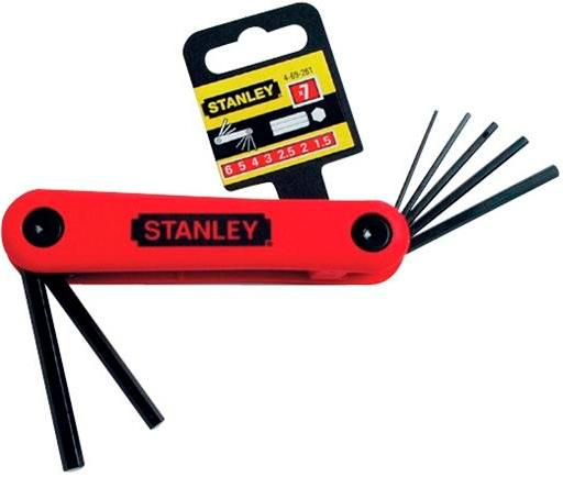 Набор торцевых шестигранных ключей на рукоятке, 7 шт. Stanley 4-69-261 набор торцевых головок jonnesway 3 8dr 6 22 мм и комбинированных ключей 7 17 мм 36 предметов
