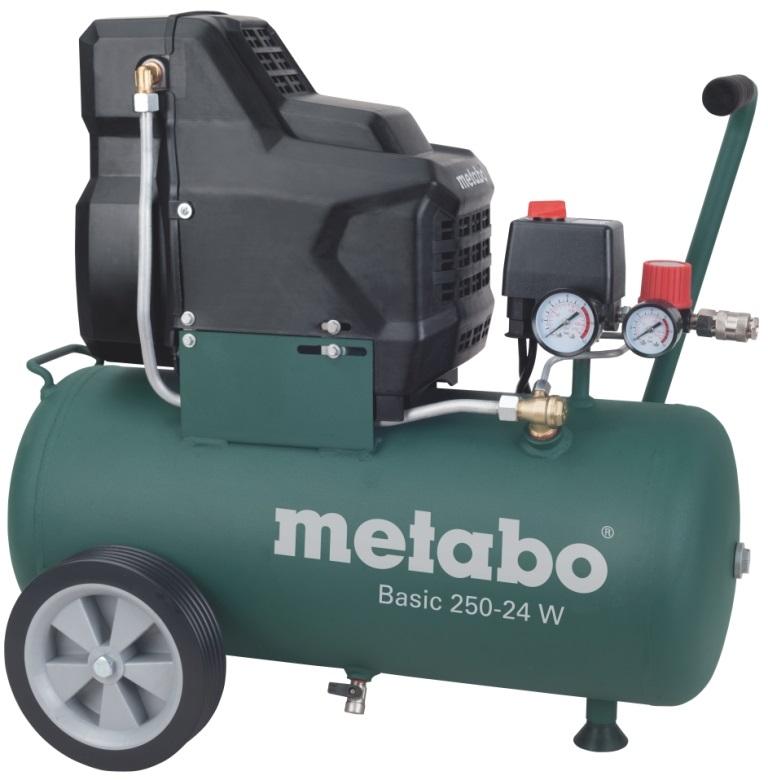 Компрессор поршневой Metabo Basic250-24w (601533000) масляный компрессор metabo basic250 24w 601533000