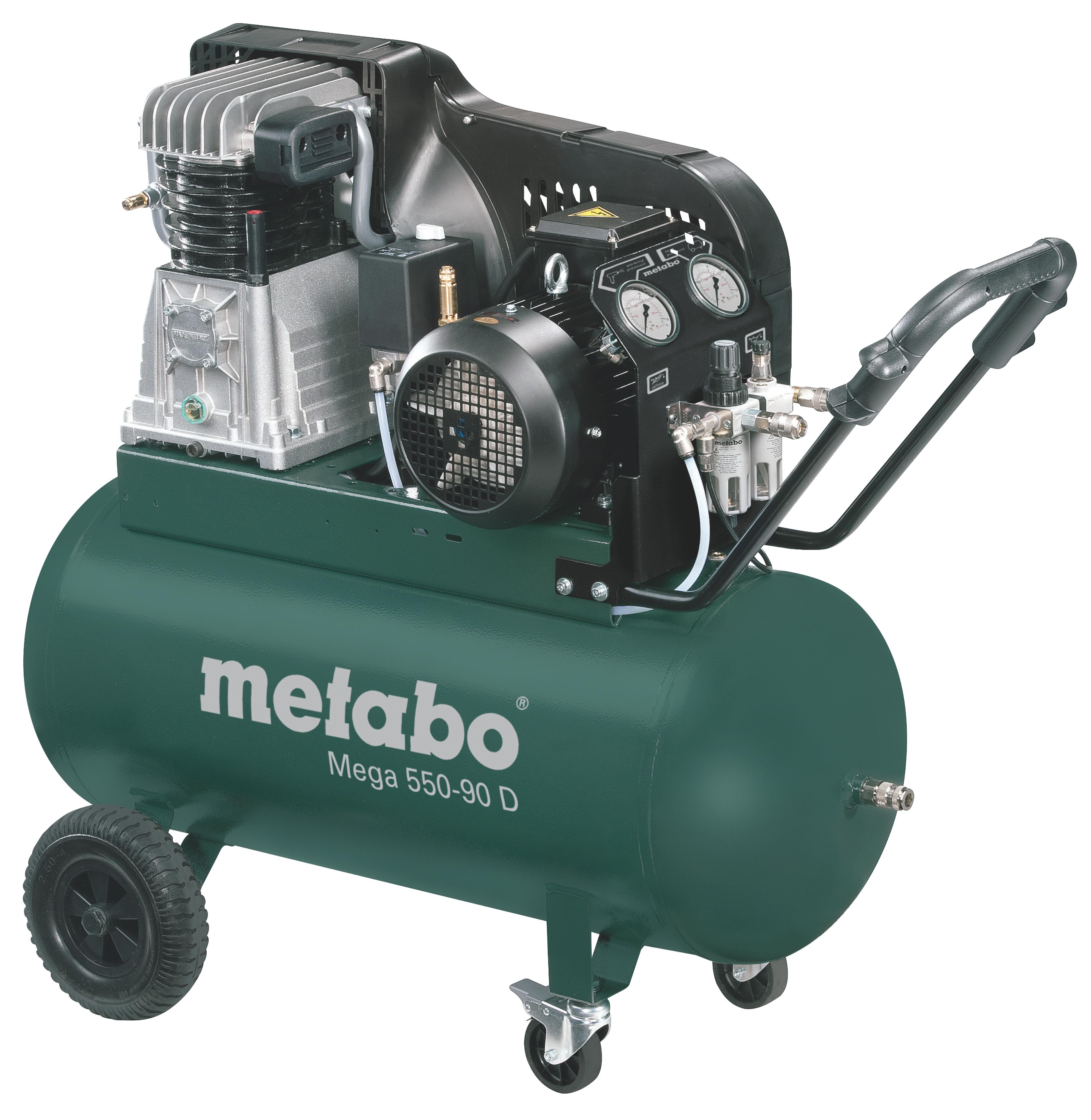 Компрессор поршневой Metabo Mega 550-90 d (601540000) компрессор ременной metabo mega 580 200 d