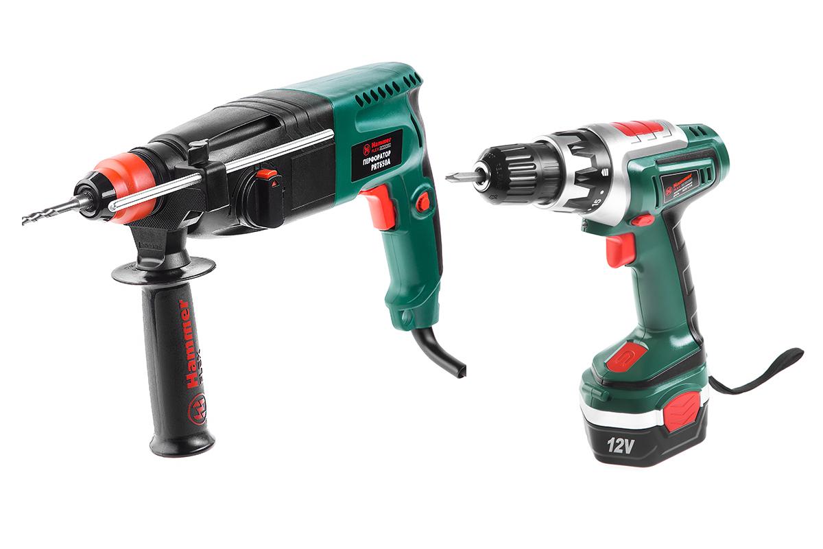 Набор Hammer перфоратор prt650a + аккум.дрель acd121a перфоратор hammerflex prt650a с бурами подарок пика