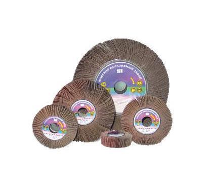 Круг Лепестковый Радиальный ЛУГА-АБРАЗИВ 150 Х 50 Х 32  Р240 (№4) VSM