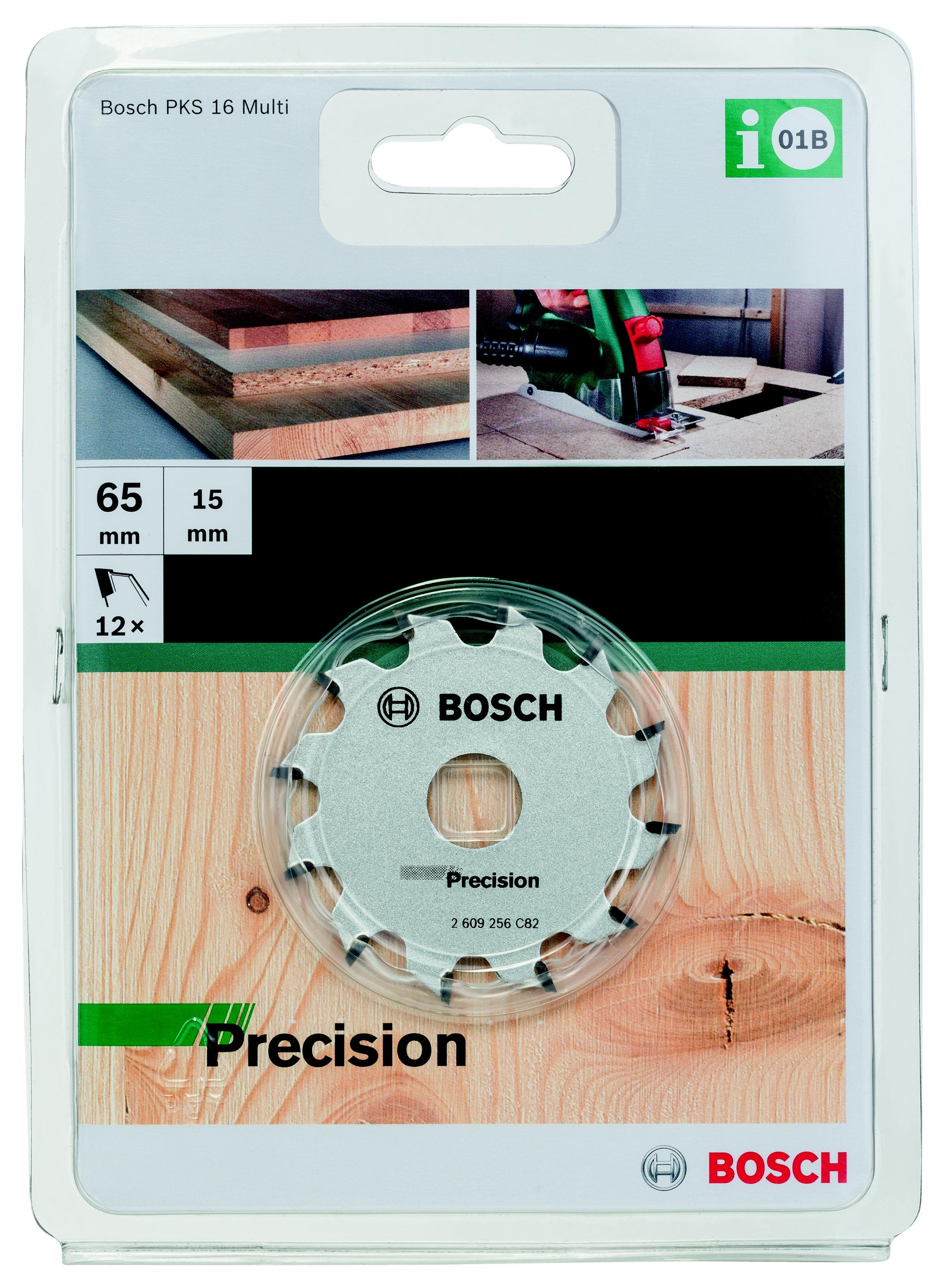 цена на Диск пильный твердосплавный Bosch Precision 65x12x15, для pks 16 multi (2.609.256.c82)