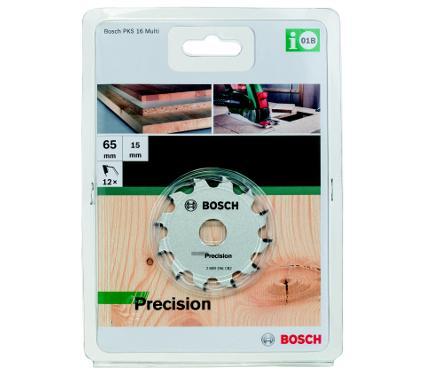 Диск пильный твердосплавный BOSCH Ф65х15мм 12зуб. (Precision для PKS 16 Multi 2609256C82)