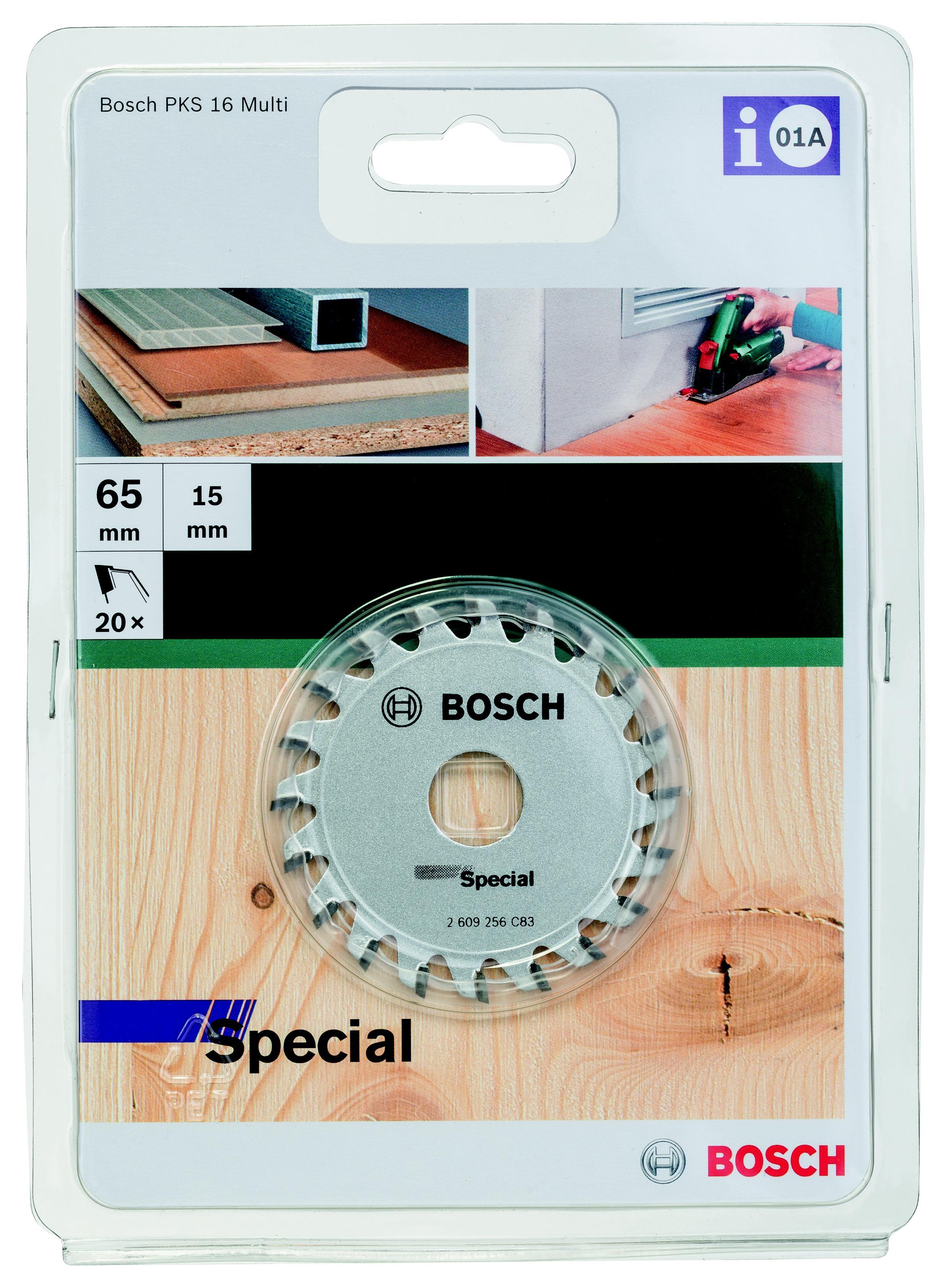 цена на Диск пильный твердосплавный Bosch Precision 65x20x15, для pks 16 multi (2.609.256.c83)