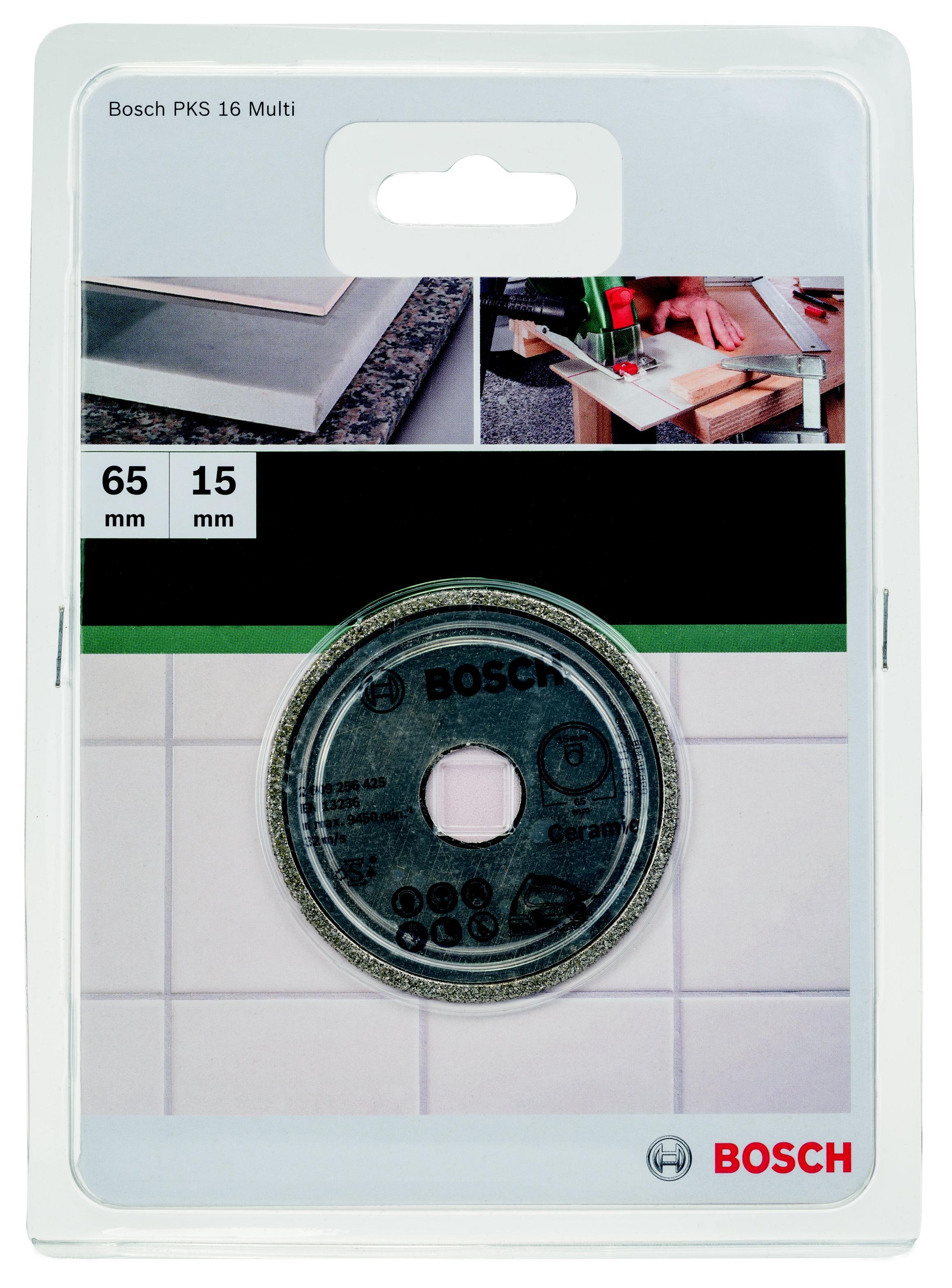 Круг алмазный Bosch Ceramic 65x15 корона (сплошной)(2.609.256.425) art ceramic
