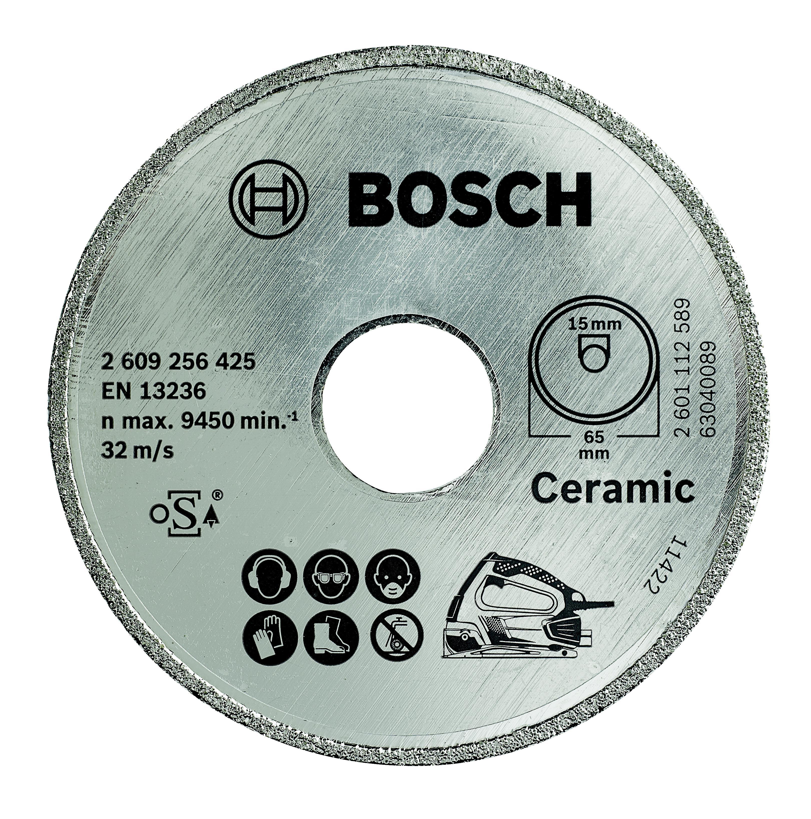 Круг алмазный Bosch Ceramic 65x15 корона (сплошной)(2.609.256.425)