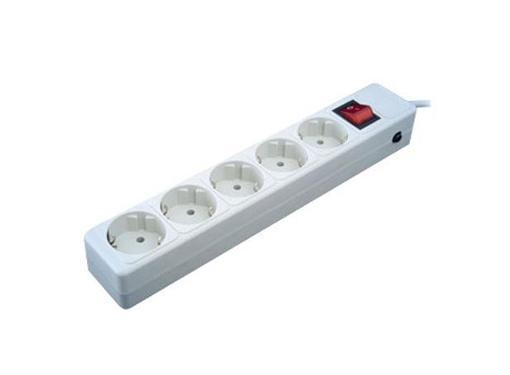 Сетевой фильтр SVEN Optima Base 3.0м серый 5гнезд 220В 10А 2.2кВт 2х1.0
