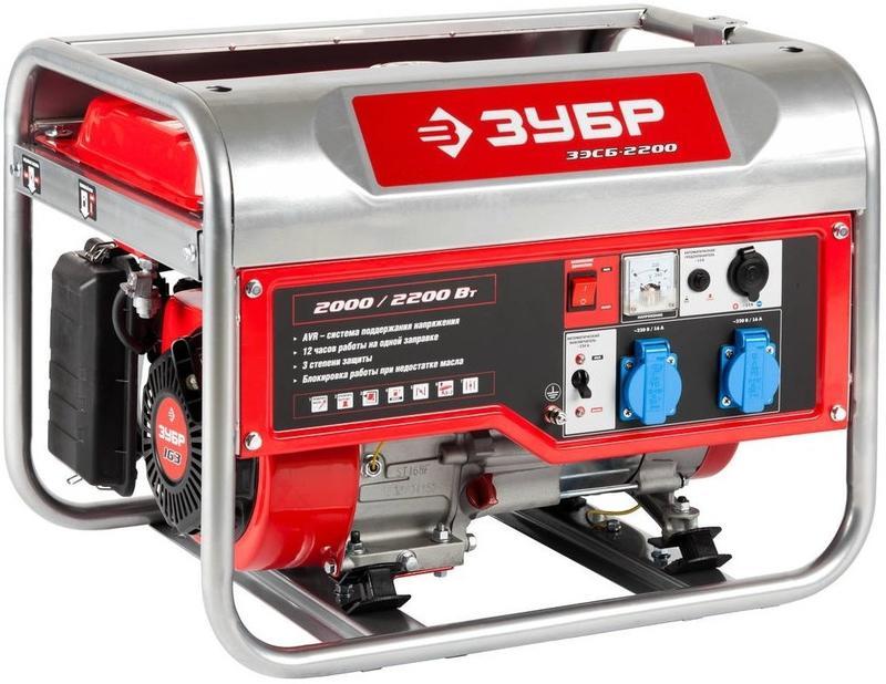 Бензиновый генератор ЗУБР ЗЭСБ-2200 генератор бензиновый зубр зэсб 1200
