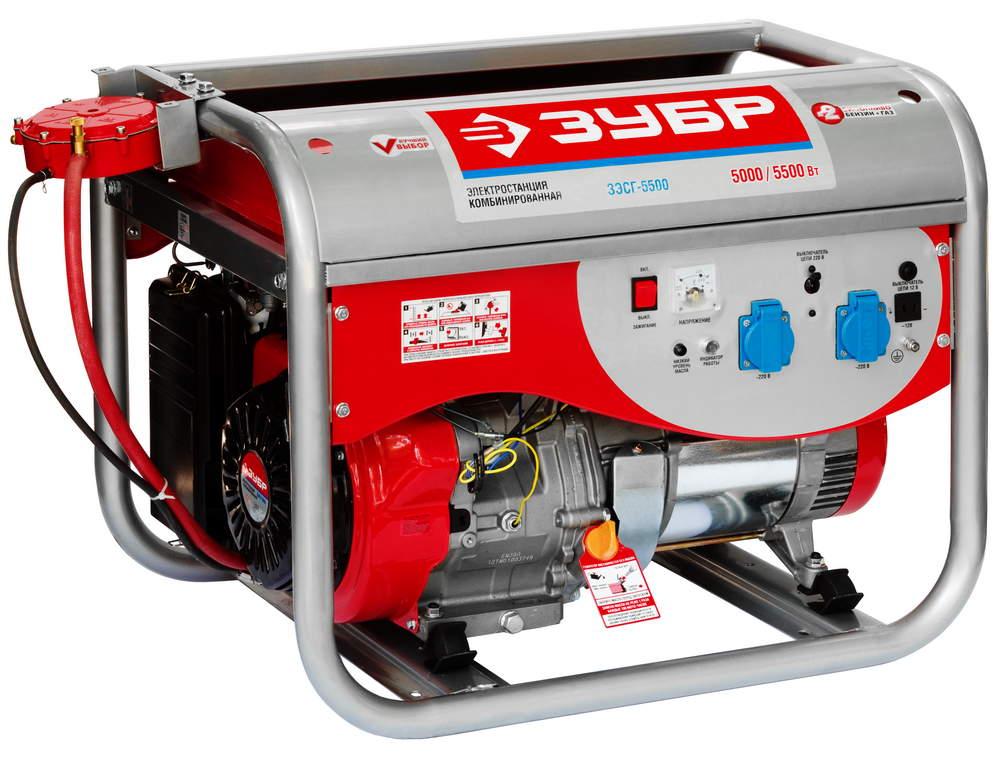 Бензиновый генератор ЗУБР ЗЭСГ-5500 авто в никополе газ бензин