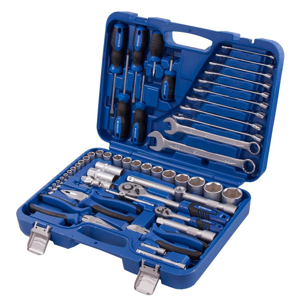 Купить Набор инструментов в кейсе, 55 предметов КОБАЛЬТ 010102-55