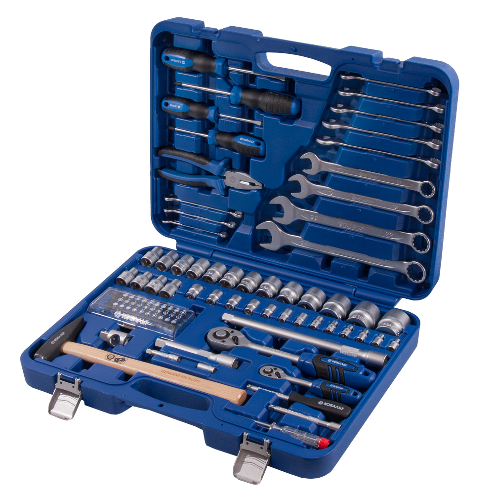Набор инструментов в чемодане, 88 предметов КОБАЛЬТ 010105-88