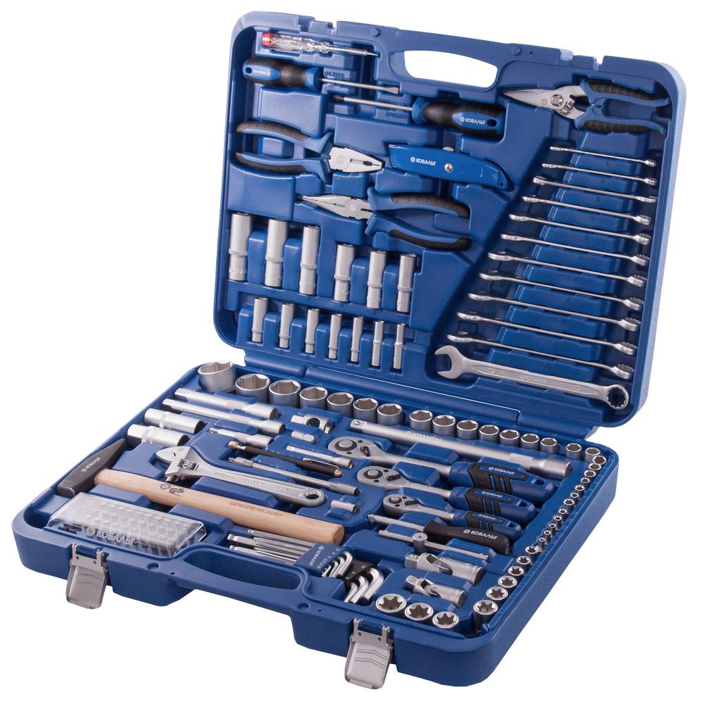 Купить Набор инструментов в кейсе, 130 предметов КОБАЛЬТ 010108-130