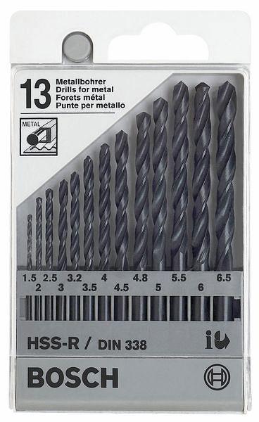 Набор сверл Bosch 1 609 200 201 металл 1.5-6.5мм, 13шт. втулка bosch 13мм 2 609 200 138