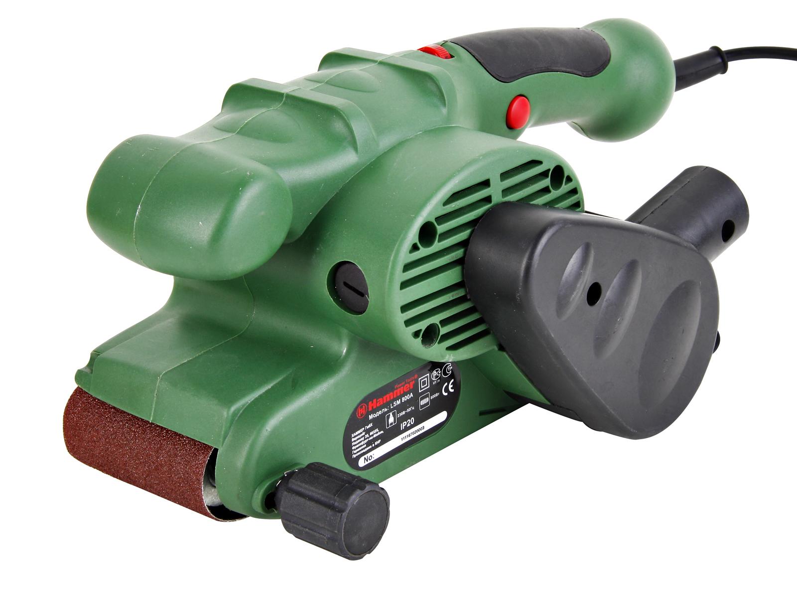 Машинка шлифовальная ленточная Hammer Lsm800a ленточная шлифмашина hammer lsm810