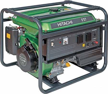 Бензиновый генератор Hitachi E57 бензиновый бензиновый генератор hitachi e40 3p