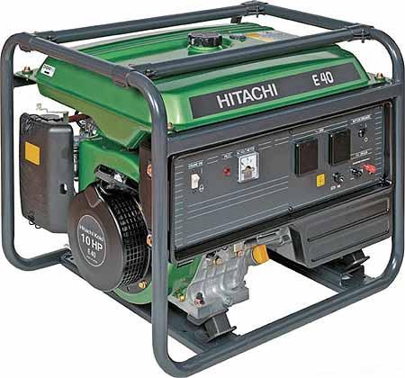 Бензиновый генератор Hitachi E40 бензиновый бензиновый генератор hitachi e 50 3p