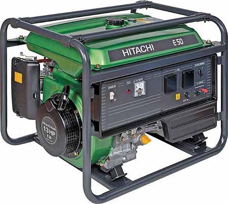 Бензиновый генератор Hitachi E50 бензиновый бензиновый генератор hitachi e 50 3p