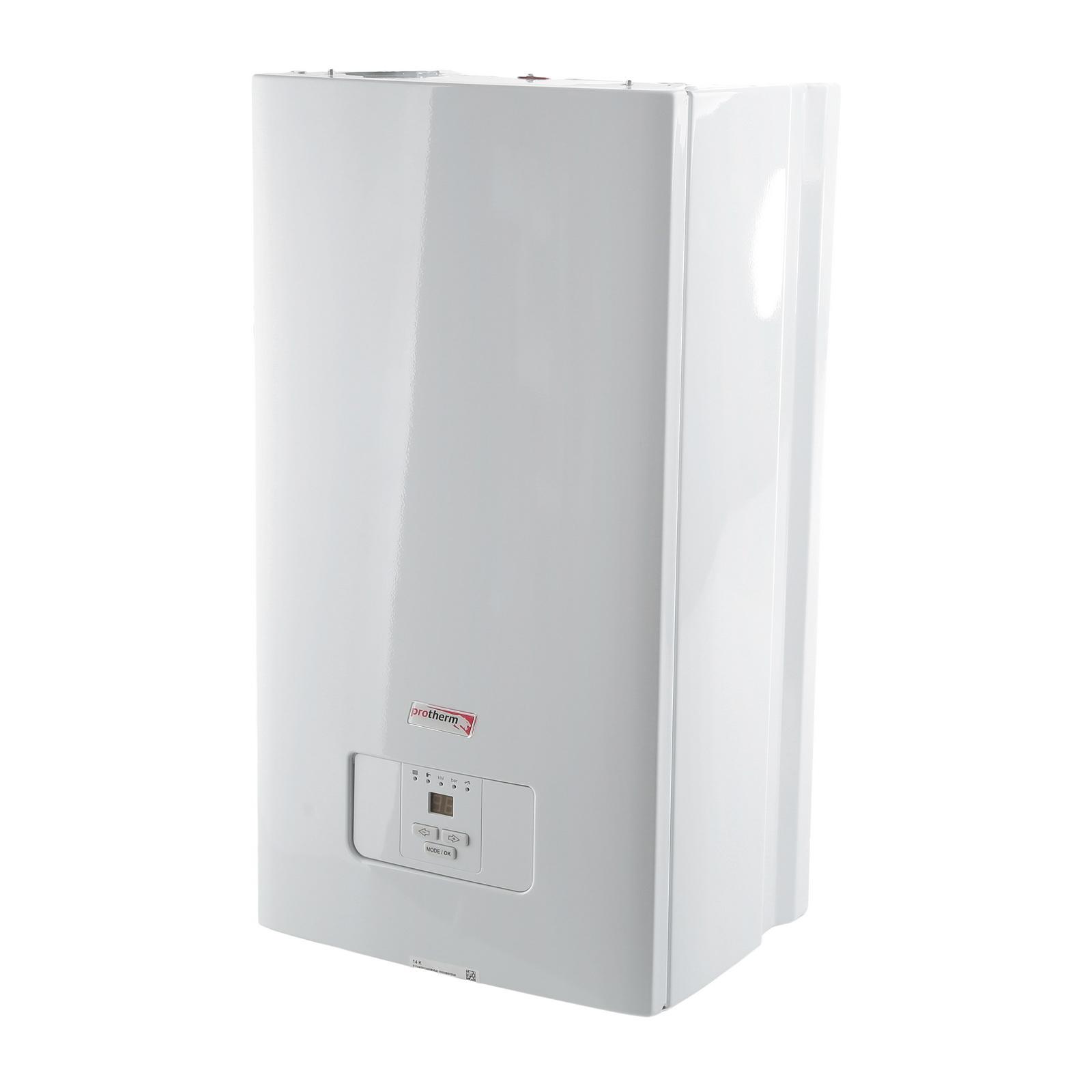 Электрический котел ProthermКотлы электрические<br>Мощность (кВт): 14,<br>Мощность: 14000,<br>Тип: электрический,<br>Высота: 740,<br>Длина (мм): 410,<br>Ширина: 310,<br>Тип установки: настенный,<br>Напряжение: 220,<br>Количество контуров: 1,<br>Вес нетто: 20<br>