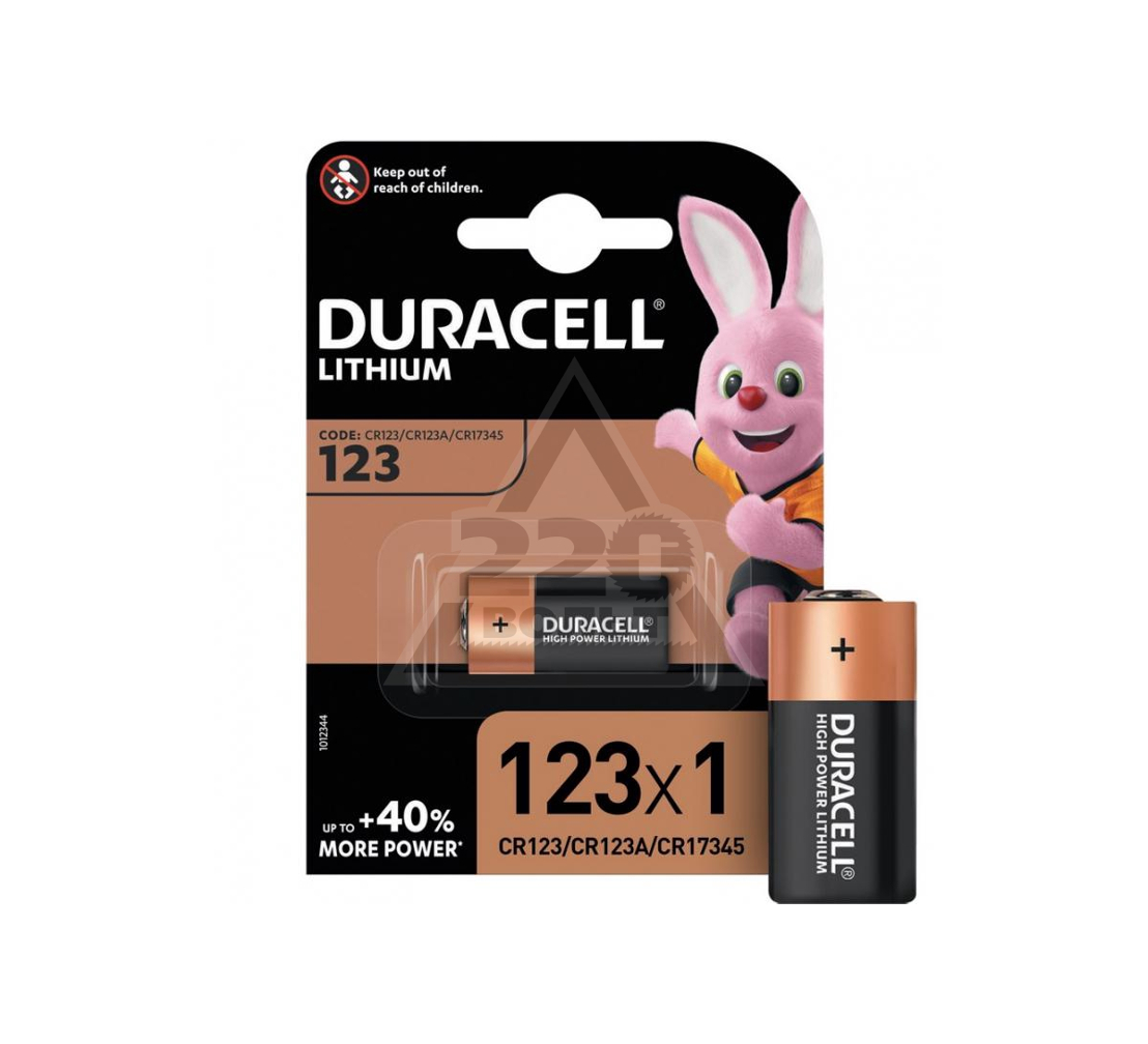 Батарейка DURACELL CR123 ULTRA (10/50/6000)