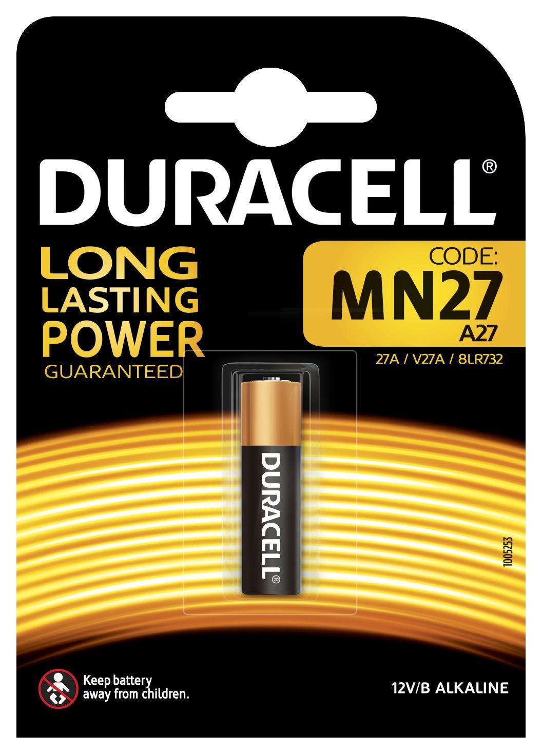 Батарейка Duracell Mn27 (10/100/9600) батарейки duracell cr2025 10 100 9600 блистер 1 шт