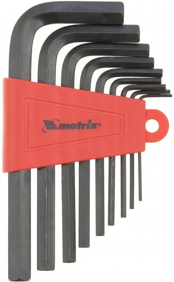 Набор шестигранных ключей угловых, 9 шт. Matrix 11227 набор шестигранных удлиненных ключей 2 0 12 мм 9 шт matrix 11227
