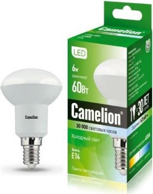 Фото - Лампа светодиодная Camelion Led6-r50/845/Е14 абажур 7833 2 е14 переходное кольцо на е27 ткань бежевый зеленый