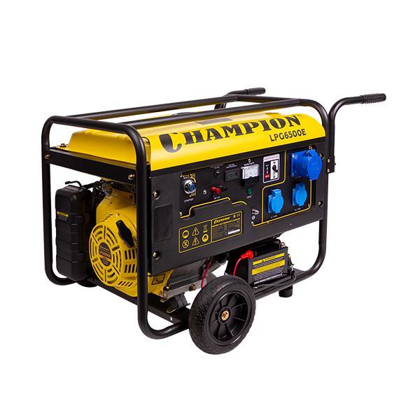 Бензиновый генератор Champion Lpg6500e+газ авто в никополе газ бензин