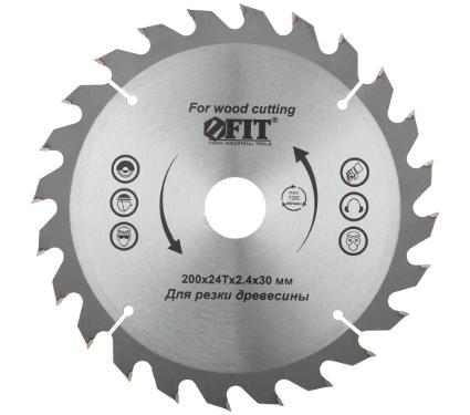 Диск пильный твердосплавный FIT Ф200х30мм 24зуб. (37745)
