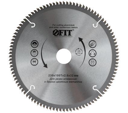 Диск пильный твердосплавный FIT Ф230х32мм 100зуб. (37784)