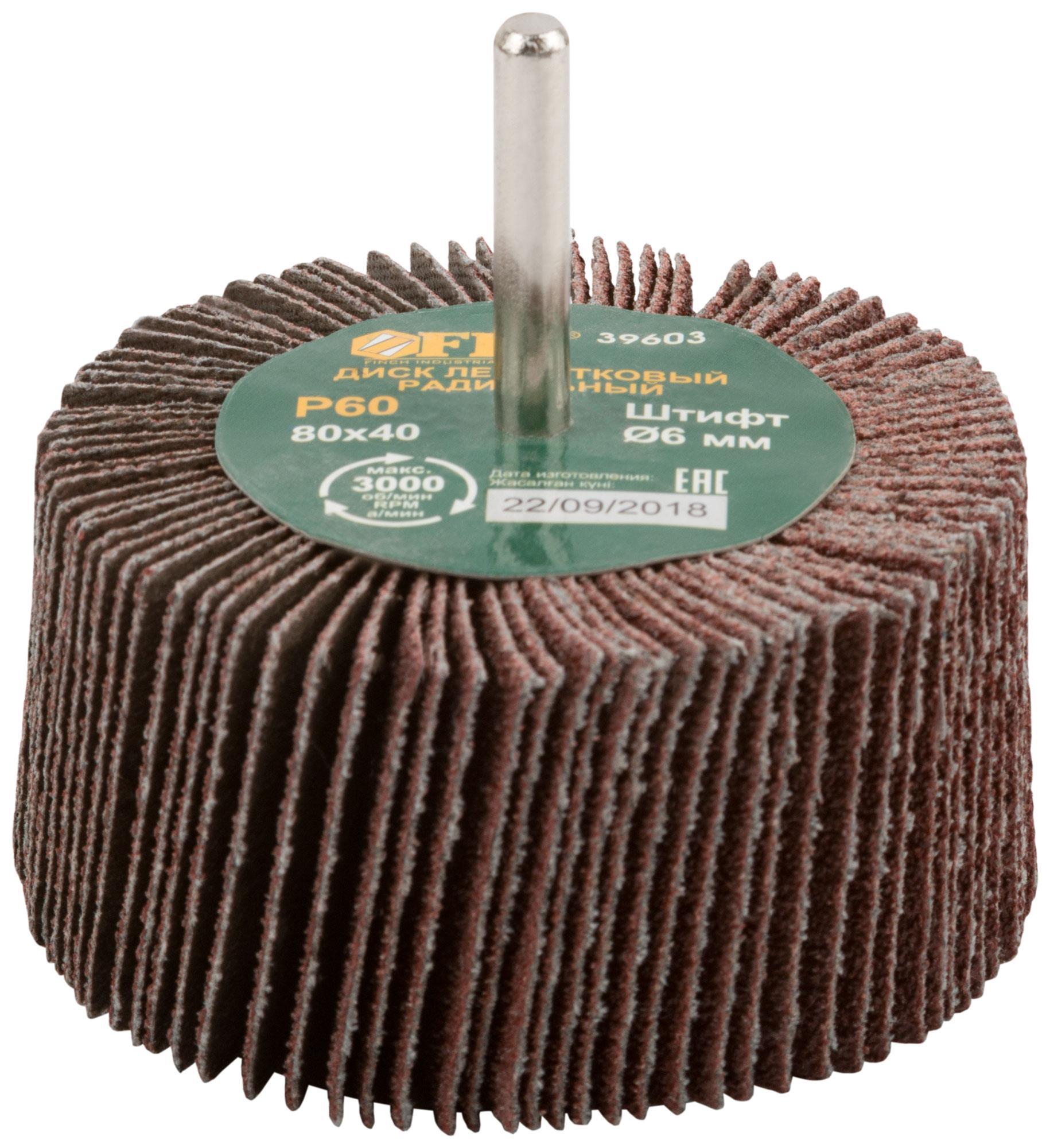 Круг Лепестковый Радиальный (КЛ) Fit 39603 круг лепестковый радиальный кл fit 39603 для дрели 80 х 40 х 6мм р60
