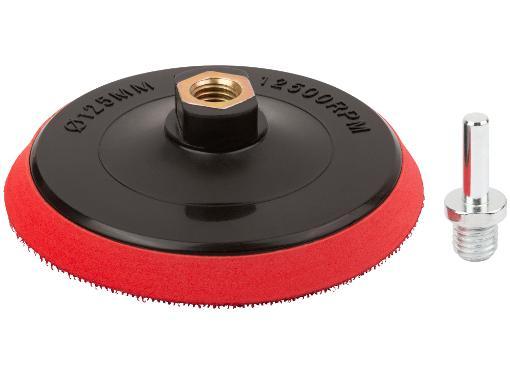Тарелка опорная FIT 125мм М14 + адаптер (39623)