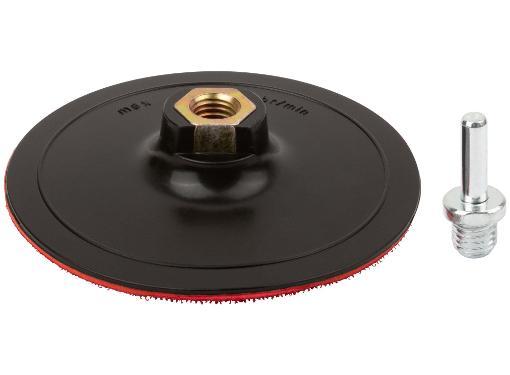 Тарелка опорная FIT 125мм М14 + адаптер (39625)