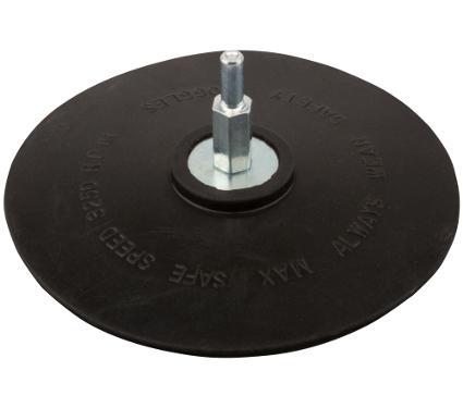 Тарелка опорная FIT 125мм хвостовик 6мм (39631)