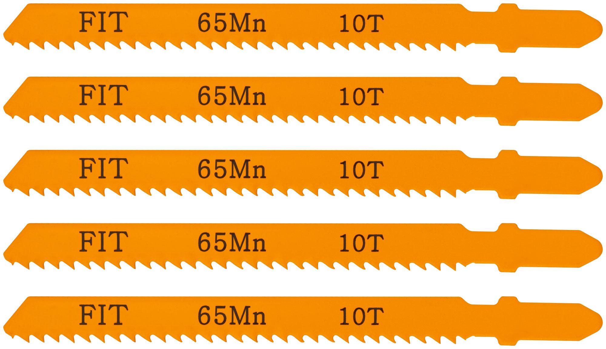Пилки для лобзика Fit 41106 пилки для лобзика по дереву набор 5 шт стандарт