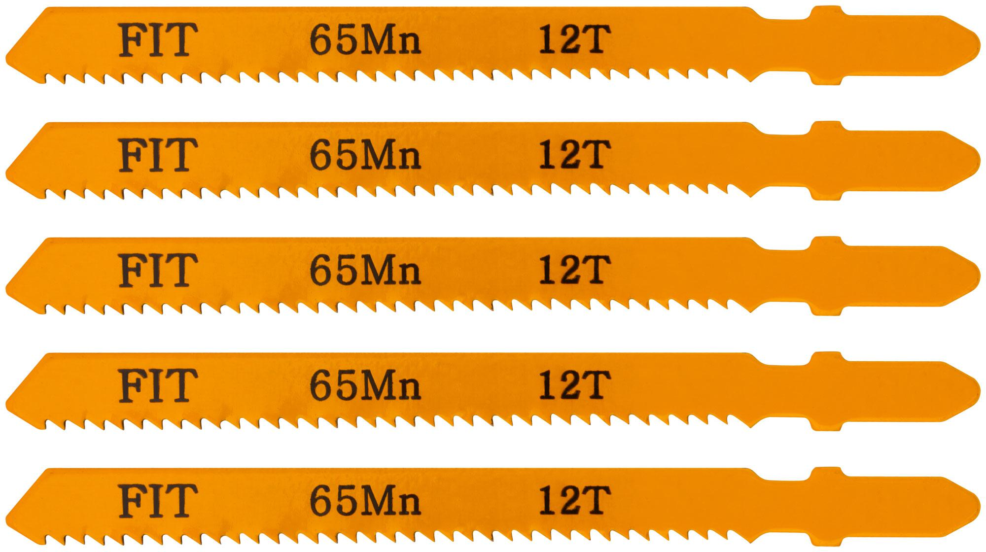 Пилки для лобзика Fit 41107 пилки для лобзика по дереву набор 5 шт стандарт