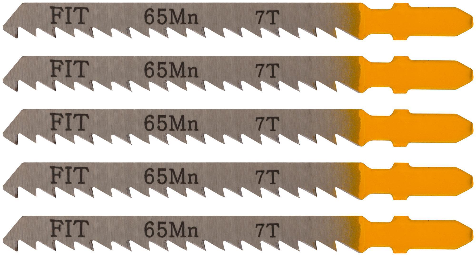 Пилки для лобзика Fit 41108 пилки для лобзика по дереву набор 5 шт стандарт
