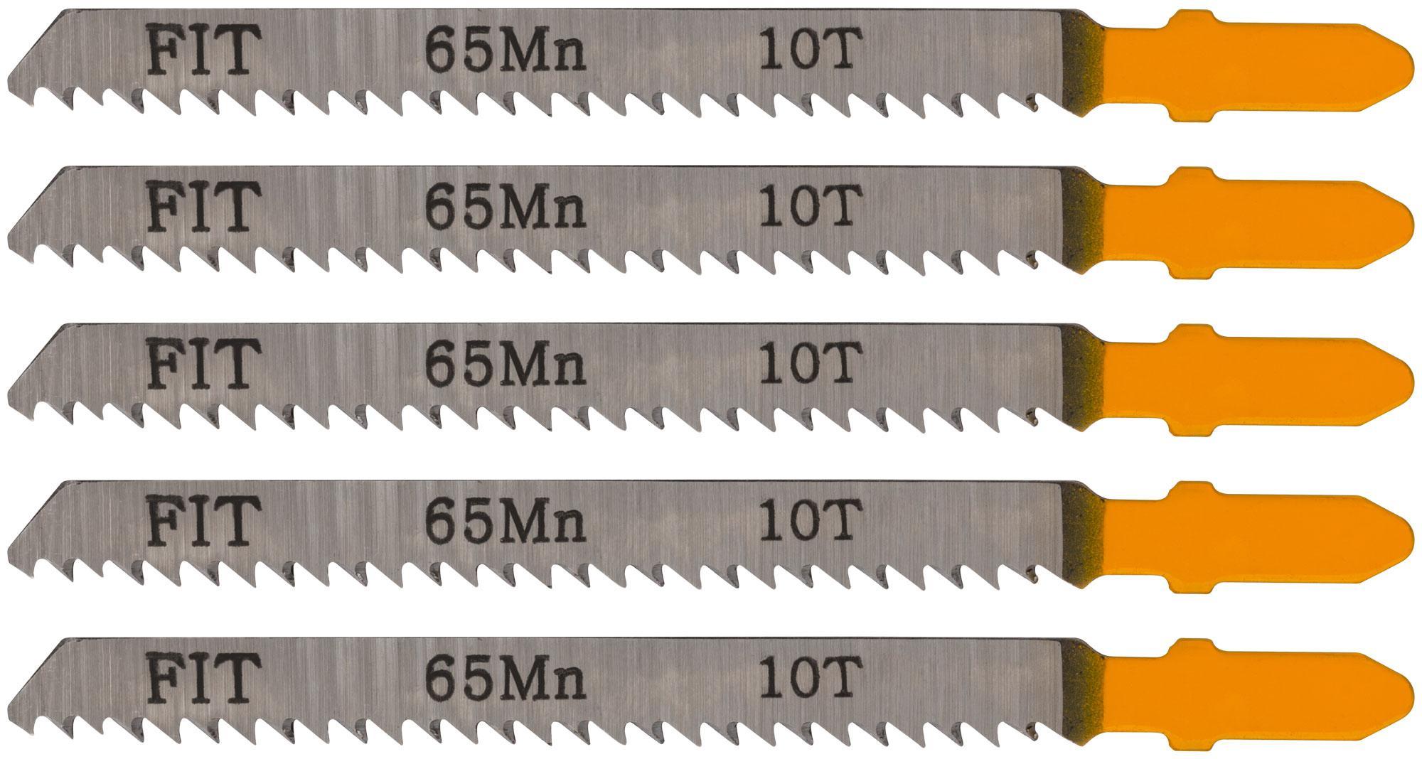 Пилки для лобзика Fit 41109 пилки для лобзика по дереву набор 5 шт стандарт